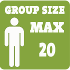 Group size max 20